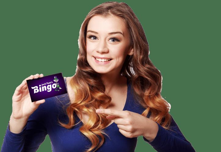girl with jack potts bingo card